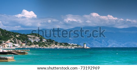 panoramic view of bay in Baska, Croatia - stock photo