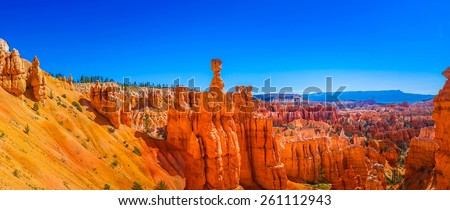 Panoramic view of beautiful Bryce Canyon National Park, Utah, USA - stock photo