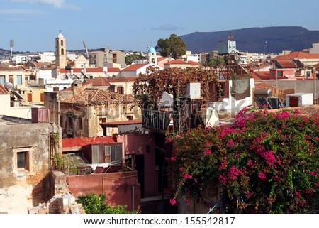panoramic view of Chania, Crete - stock photo