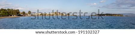 Panoramic view of Eretria, Euboea, Greece - stock photo