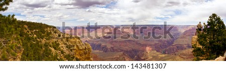 Panoramic view of Grand Canyon, Arizona, USA. - stock photo