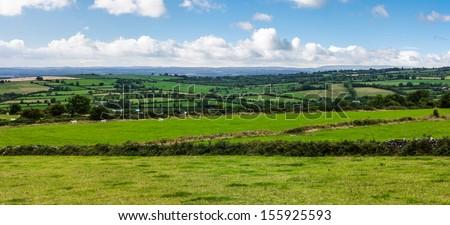 Panoramic view of Kilkenny County in Ireland - stock photo