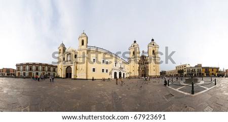 Panoramic view of Lima - Peru - stock photo
