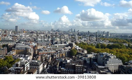 Panoramic view of London Egland - stock photo