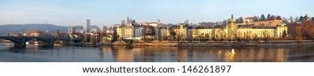 Panoramic view of Prague, Czech Republic  - stock photo