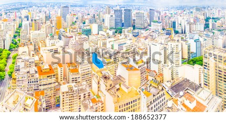 Panoramic view of Sao Paulo, Brazil - stock photo