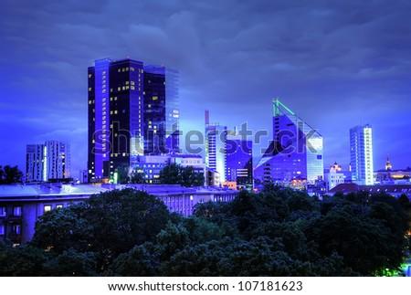 Panoramic view of Tallinn city - stock photo
