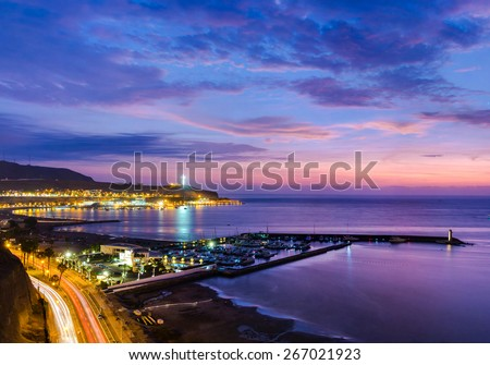 Panoramic view of the Chorrillos bay in Lima, Peru - stock photo