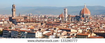 Panoramic view of the Florence, Italy - stock photo