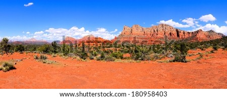 Panoramic view of the red rocks of Sedona, Arizona, USA - stock photo