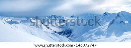 Panoramic views of the mountains - stock photo