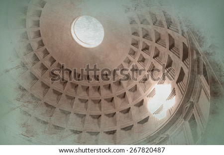 Panteon in Rome - stock photo