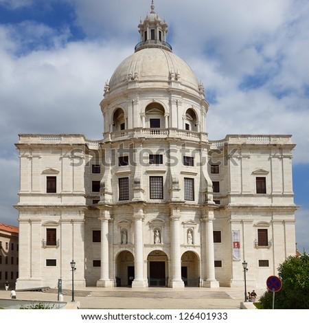 Pantheon in Lisbon / Lisboa - capital of Portugal. - stock photo