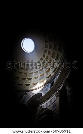 pantheon interior isolated on black - stock photo
