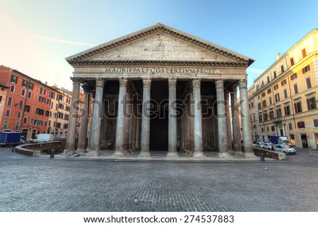 Pantheon - rome - stock photo