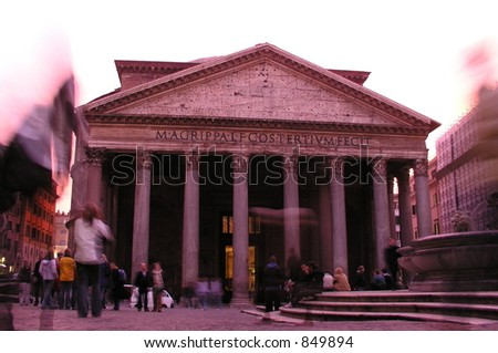 Pantheon, Rome, Italy - stock photo