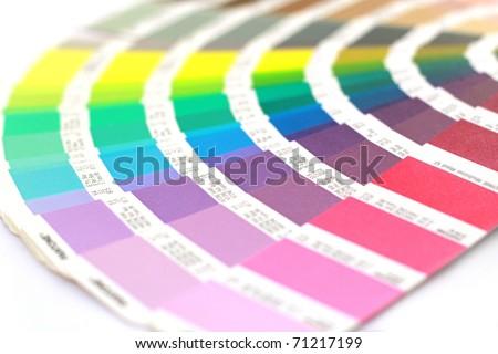 Pantone color palette - stock photo