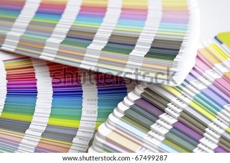 Pantone sample colors catalogues - stock photo