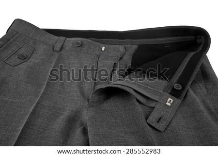 pants on white background - stock photo