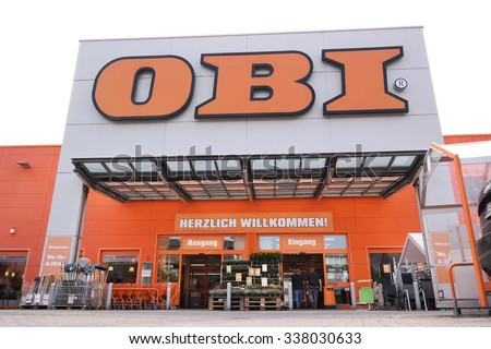 PAPENBURG, GERMANY - AUGUST 11: Branch of OBI Home Improvement store. OBI GmbH & Co is the largest DIY retailer in Europe. Taken on August 11, 2015 in Papenburg, Germany - stock photo