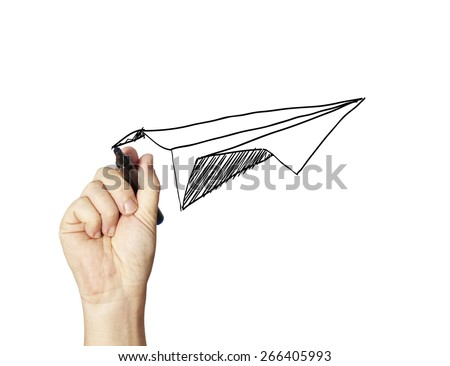 paper aircraft - stock photo