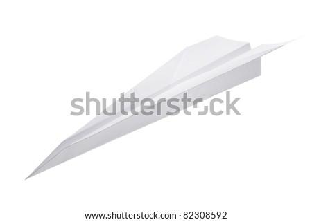 Paper airplane - stock photo