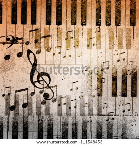 paper background with note sings on it - stock photo