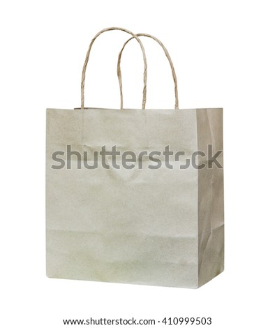 Paper bags isolated on white background. - stock photo