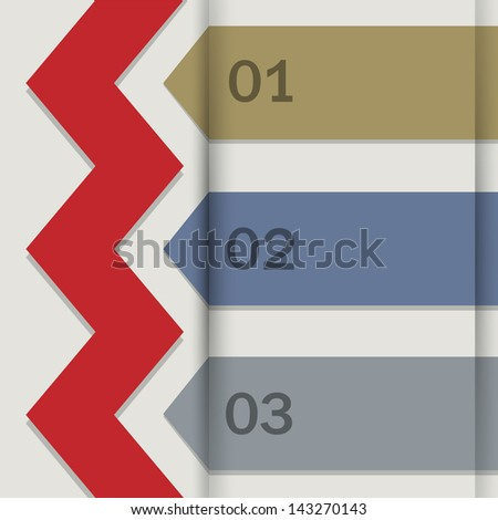 Paper banners for Infographics. Raster version - stock photo