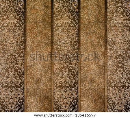 paper banners with ornament - stock photo