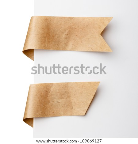 Paper bookmark ribbons - stock photo