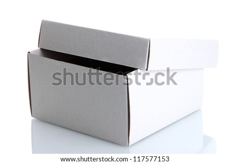 paper box, isolated on white - stock photo