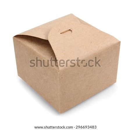 Paper box. Packaging. Isolated over white background - stock photo