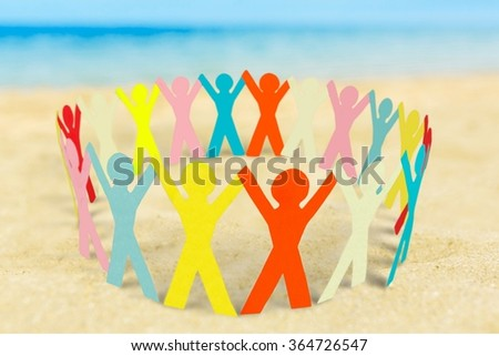 Paper Chain. - stock photo