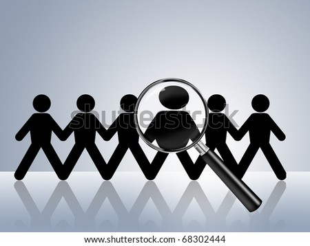 paper chain figures wanted employer job vacancy head hunter searching job search help wanted job ad hiring now find job application recruitment recruit staff - stock photo