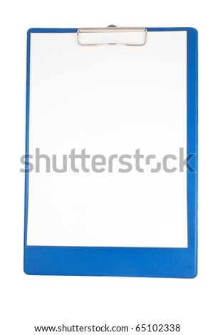 Paper clip board isolated on a white background - stock photo