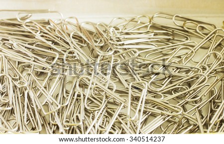 Paper clips in box - stock photo