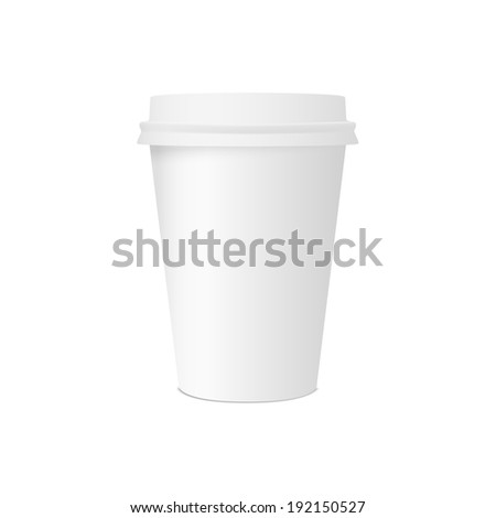 Paper cup for coffee isolated on white background. raster version  - stock photo