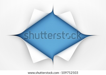 Paper curl - 3D render - stock photo