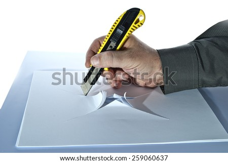 paper cutting torch - stock photo