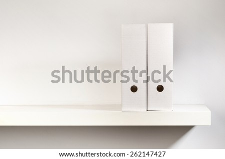 Paper file boxes - an office stationary - stock photo