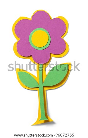 Paper flower. Path included. - stock photo