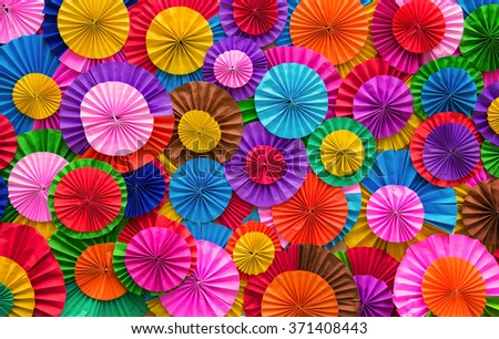 Paper folding multicolored abstract for background. - stock photo