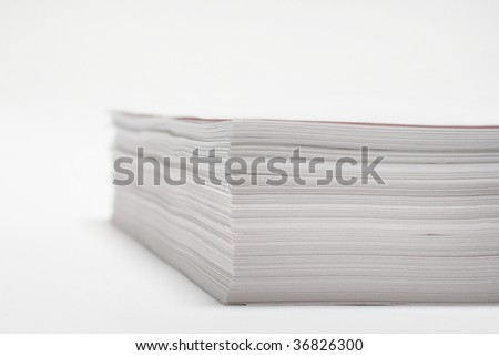 Paper for press and offices - stock photo