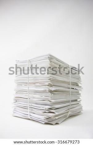 Paper, garbage - stock photo