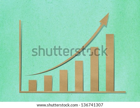 paper growth chart - stock photo