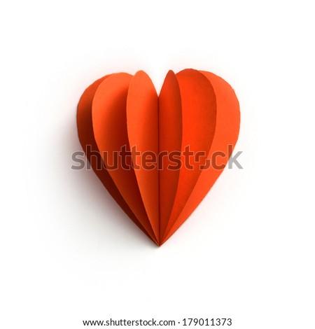 paper heart / love concept - stock photo