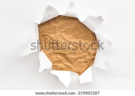 Paper Hole - stock photo