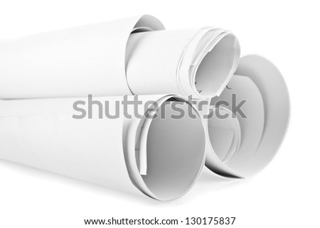 paper isolated on a white background - stock photo