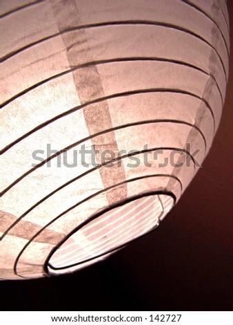 paper lamp shade - stock photo